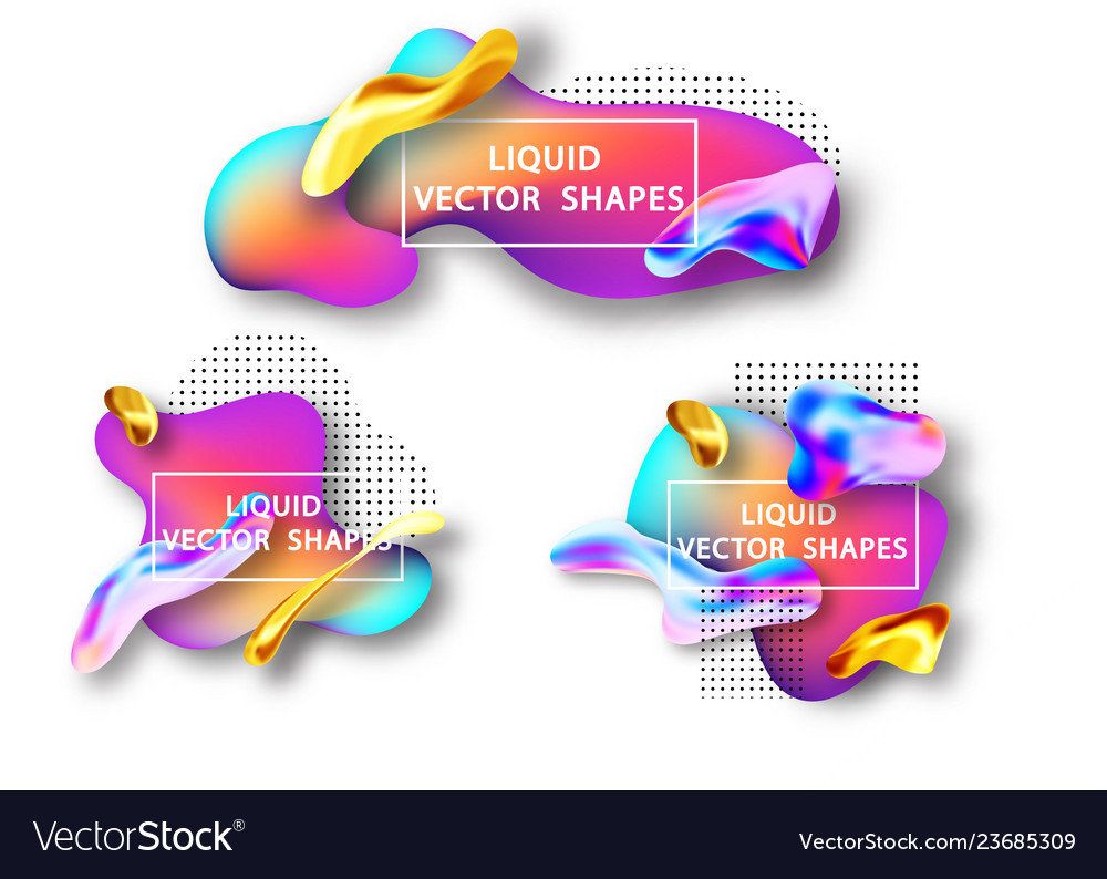 Fluid shape layout isolated template set template