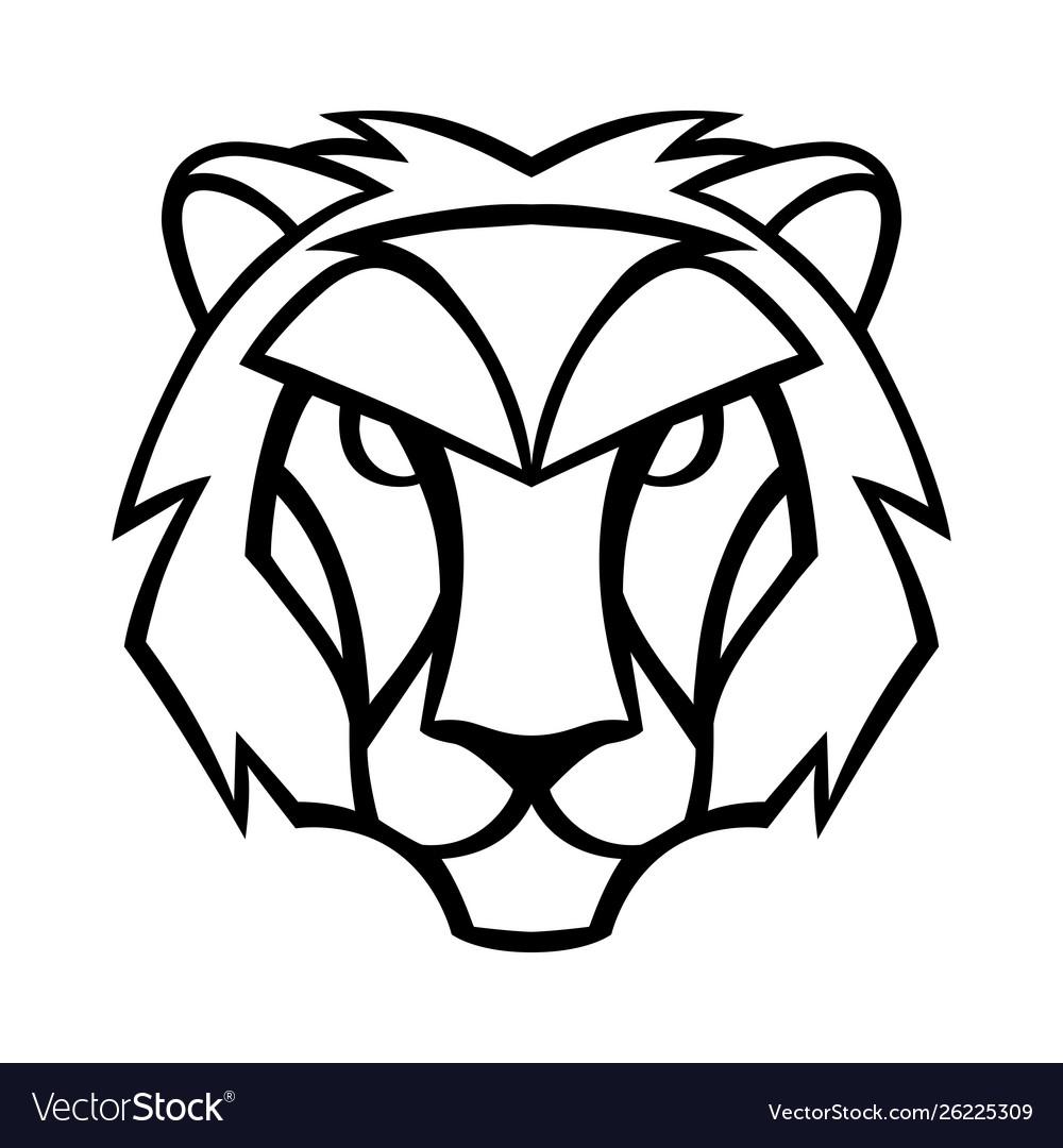 Leo zodiac sign black horoscope symbol