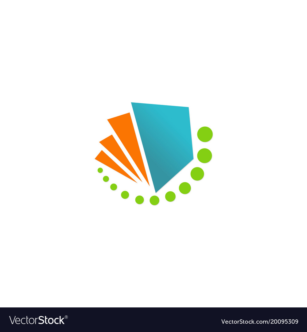 Paper book abstract logo
