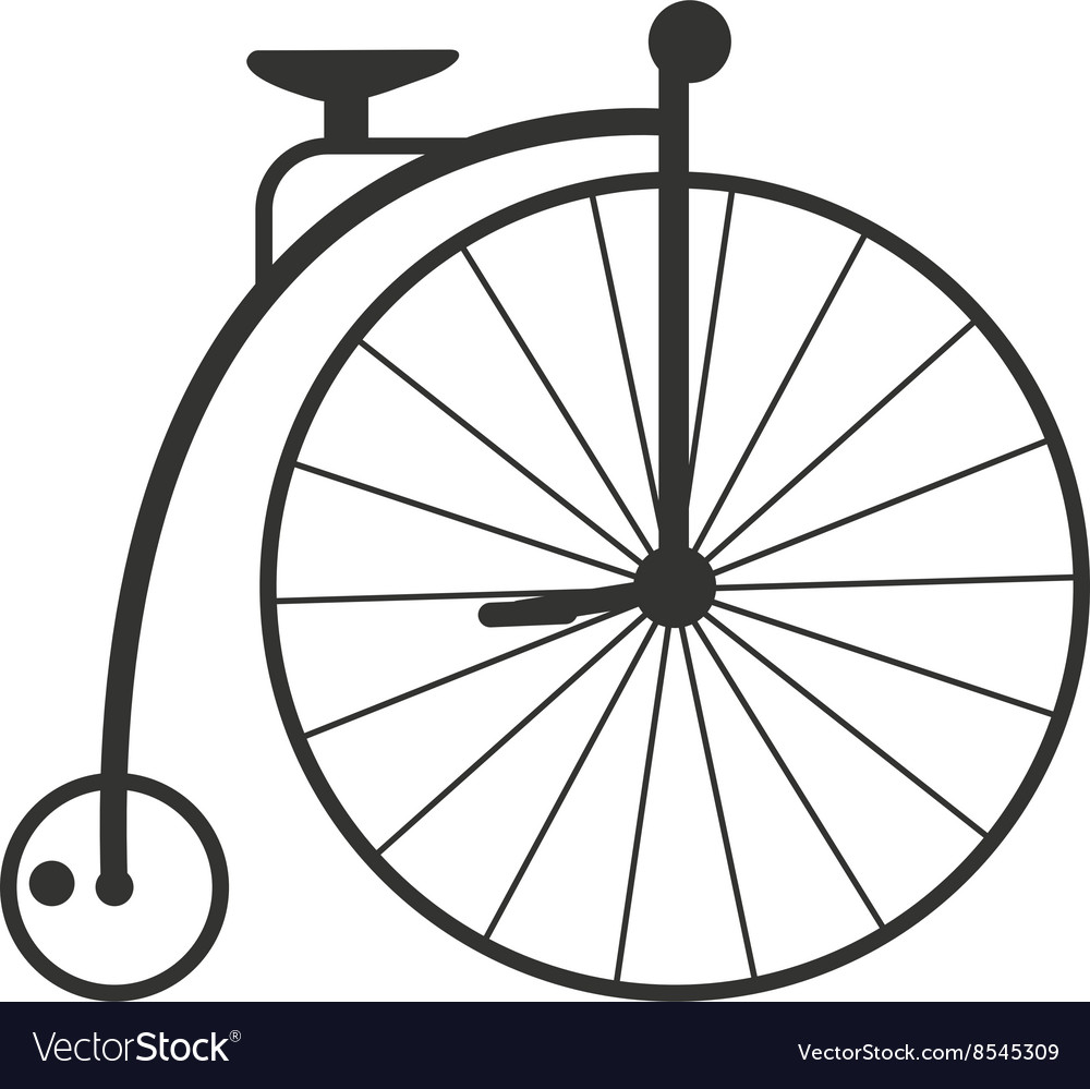 Retro style vintage bike nineteenth century