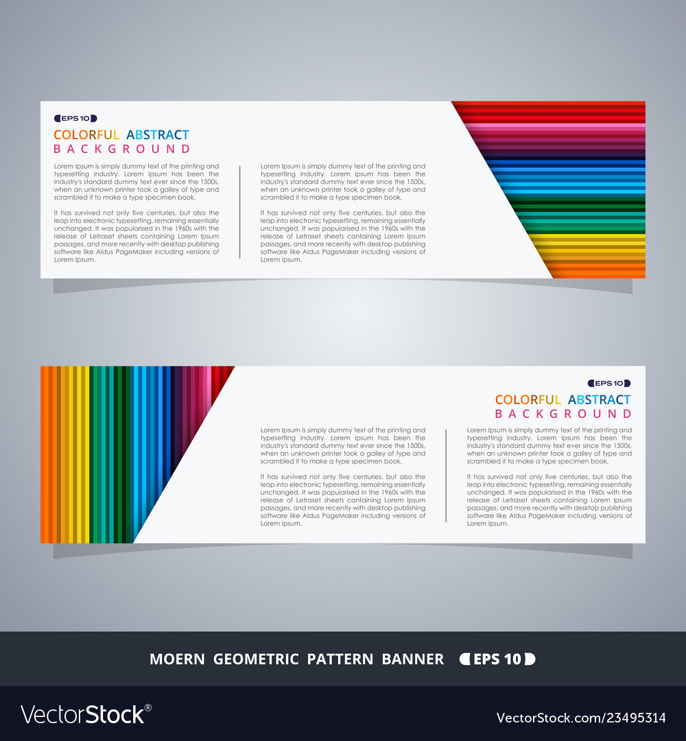 Abstract of colorful stripe lines pattern banner