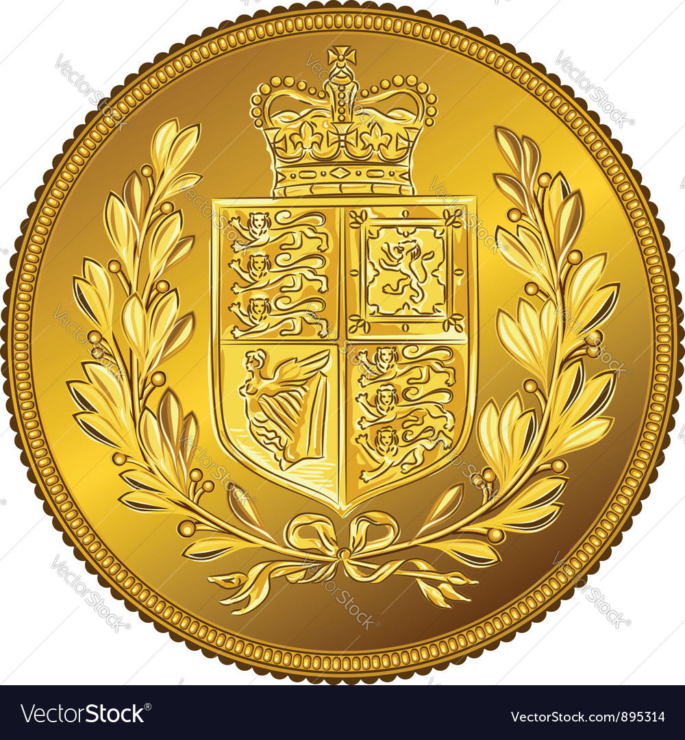 British money gold coin Sovereign with the