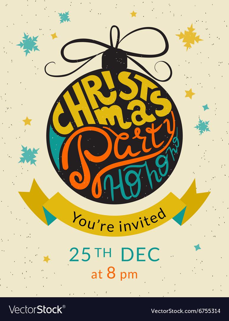 Christmas party ho ho ho invitation template