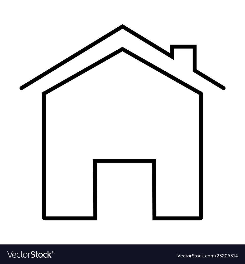 Home Icon On White Background Flat Style Vector Image