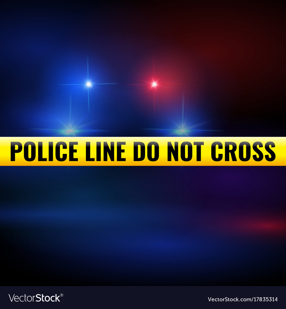 Police Lights And Tape Vector Image