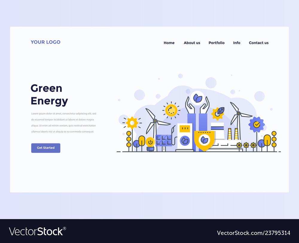 Web design flat modern concept - development team