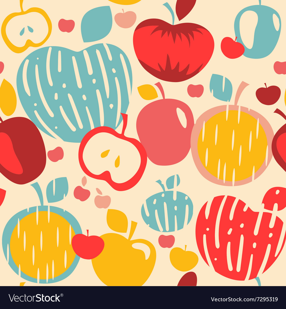 Abstract Apples Seamless Pattern