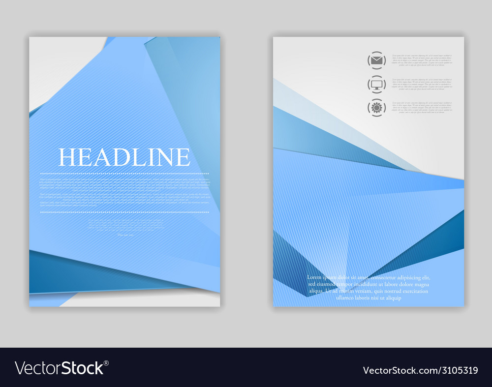 abstract blue minimal tech flyer design royalty free vector