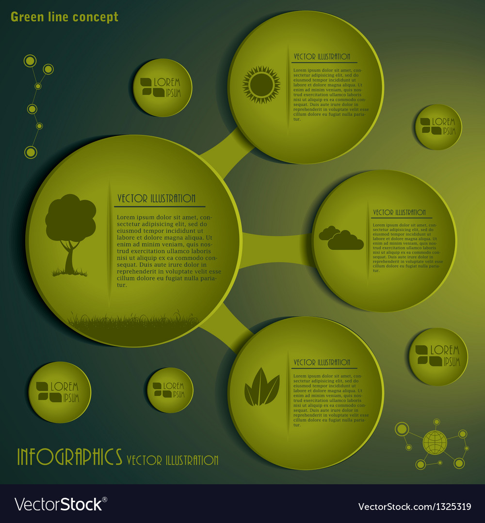 Green Infographics design template