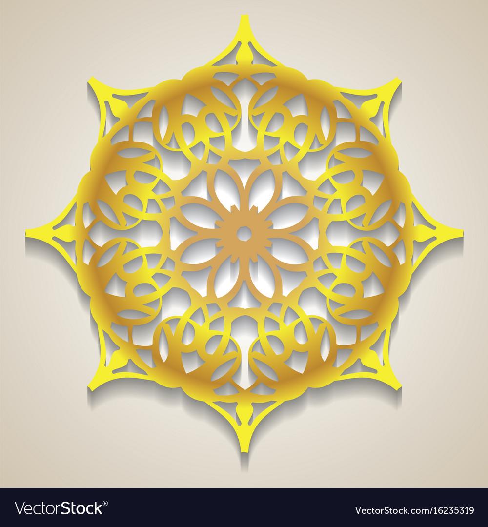 Lace gold symbols vector image