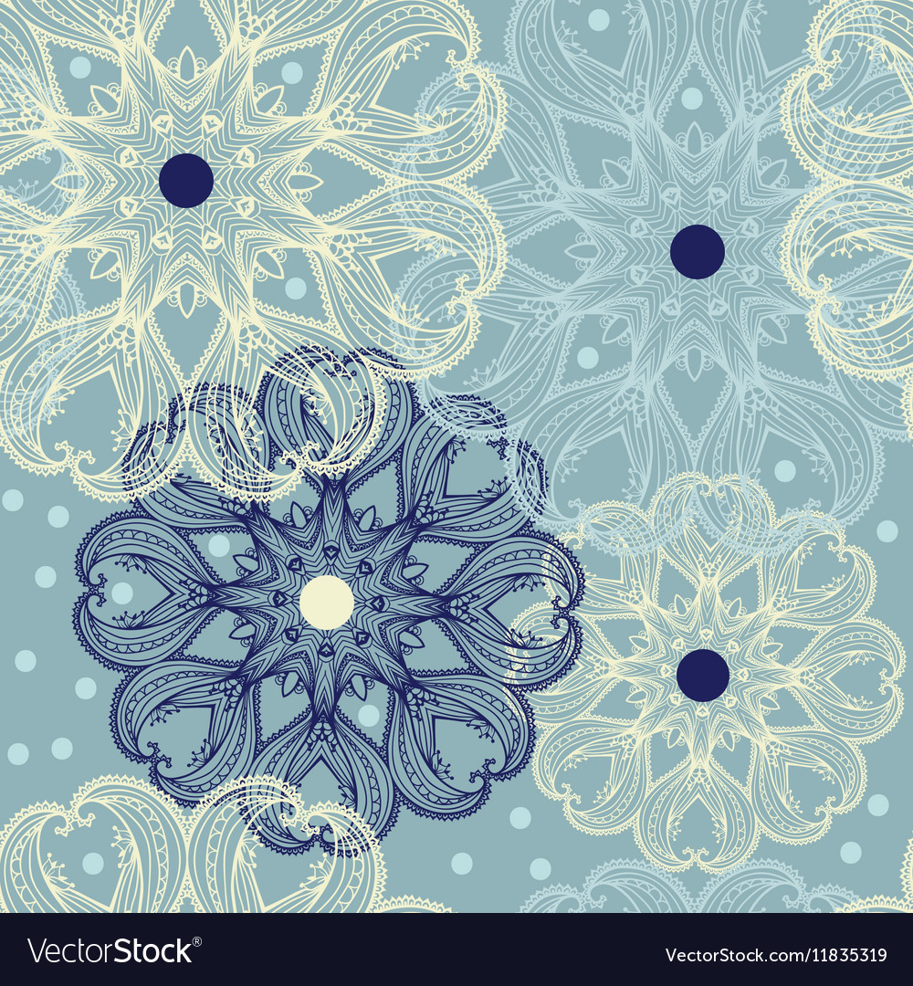 Seamless pattern with circular ornaments like a