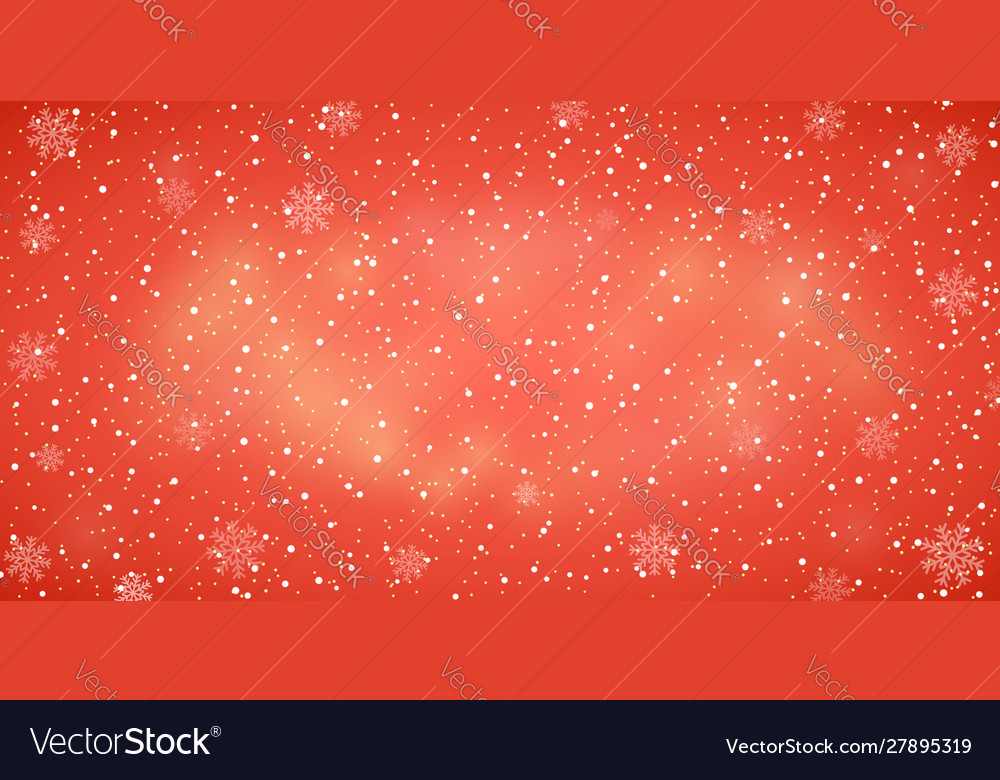 Snow red background christmas snowy winter design