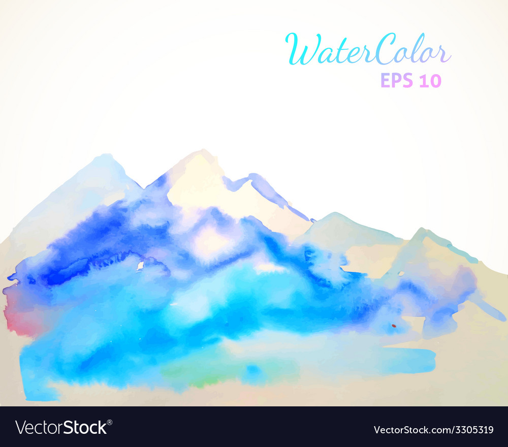 Watercolor mountain background