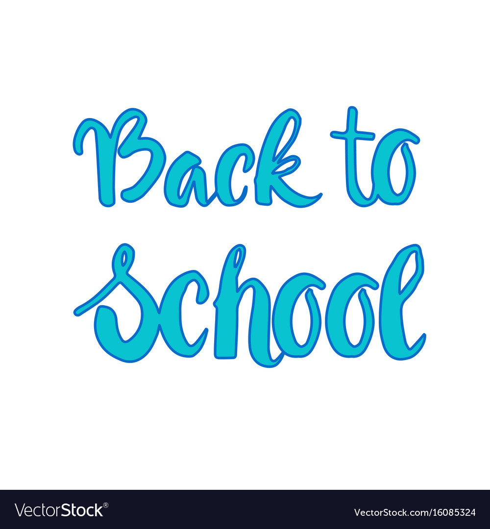 Back to school logo colorful text on white