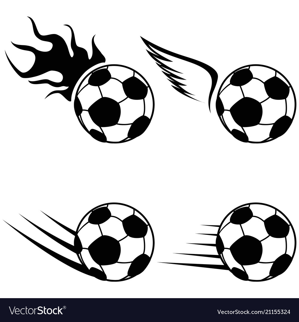 Black soccer logo icons set