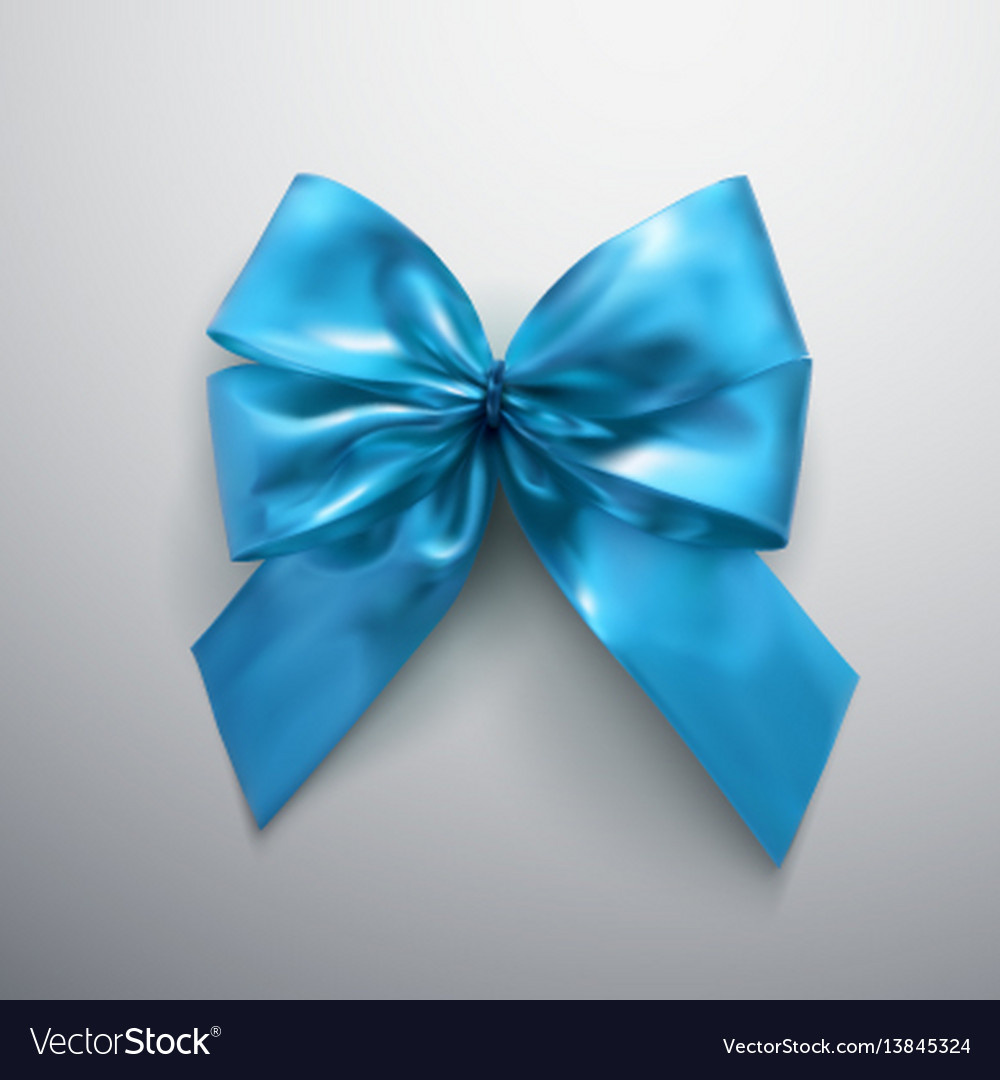 Blue bow and ribbons