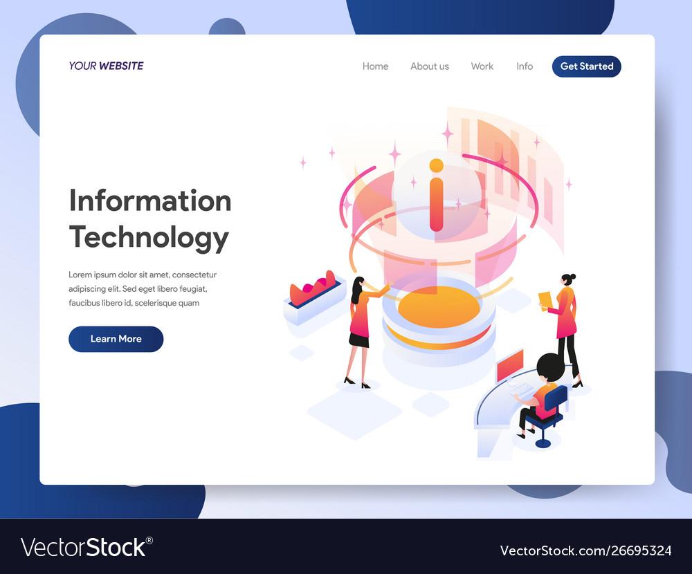 Information technology designer isometric