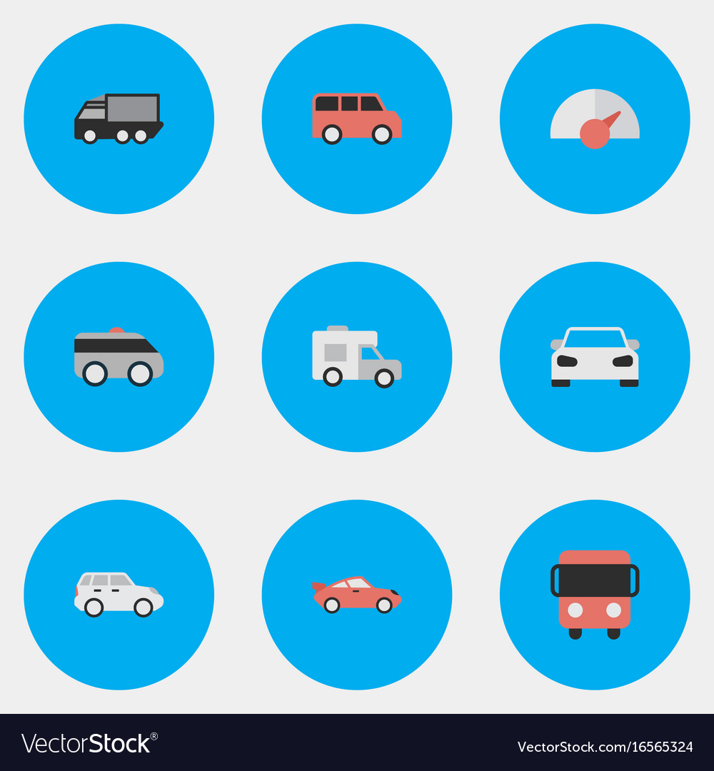 Set of simple shipping icons vector image