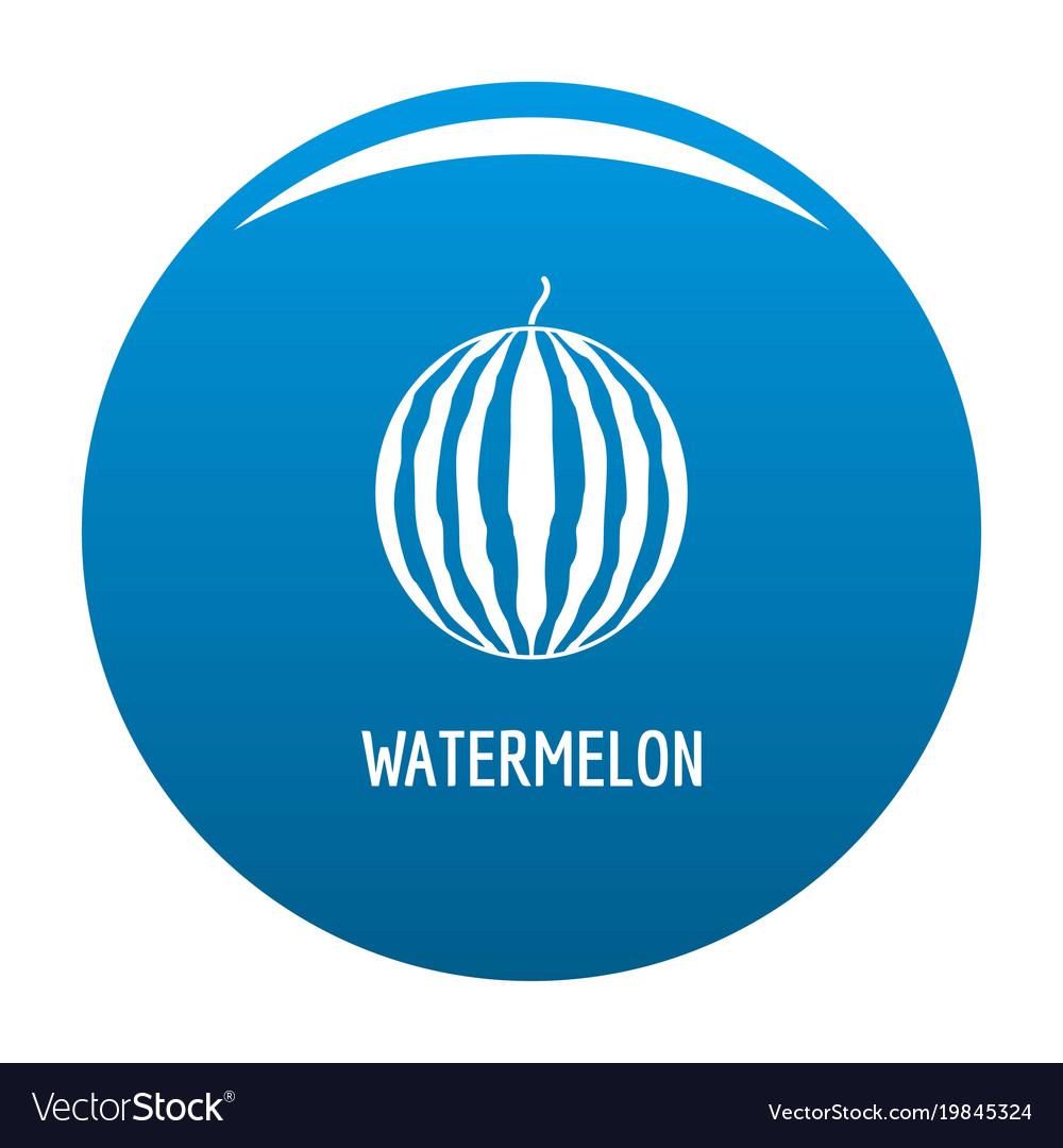 Watermelon icon blue