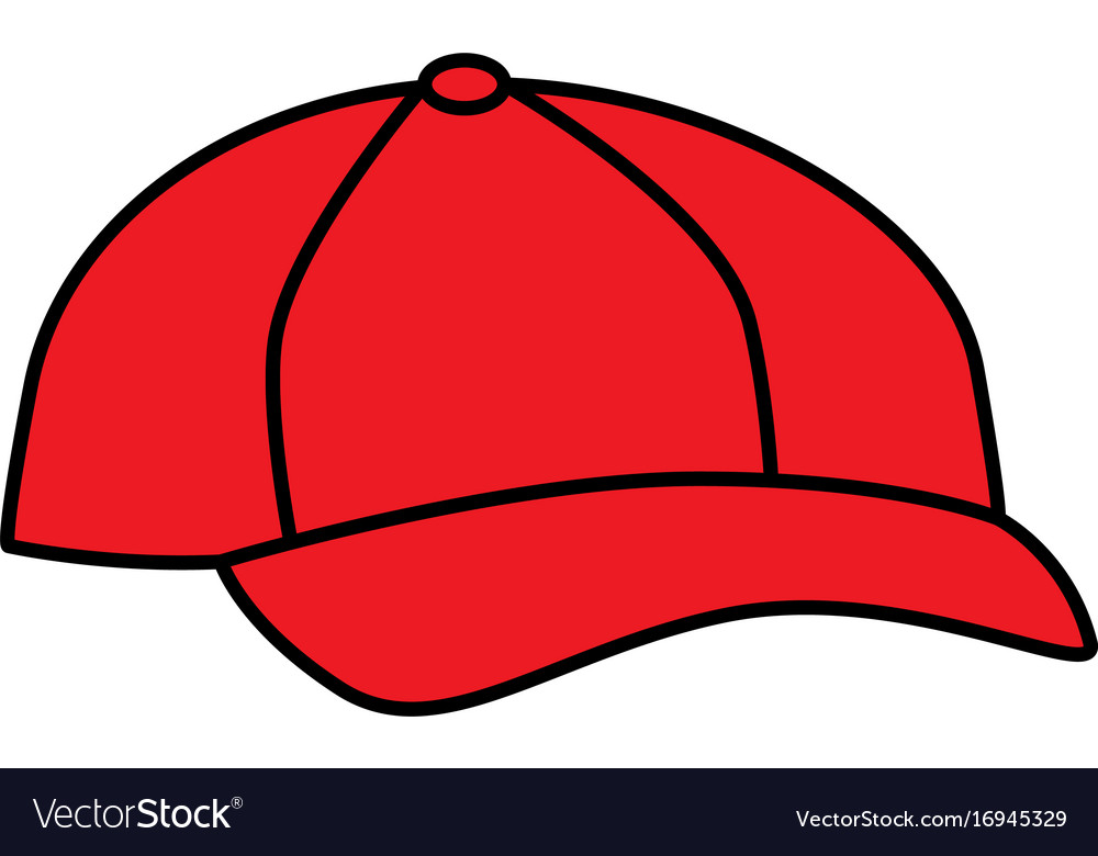 Baseball cap isolated icon