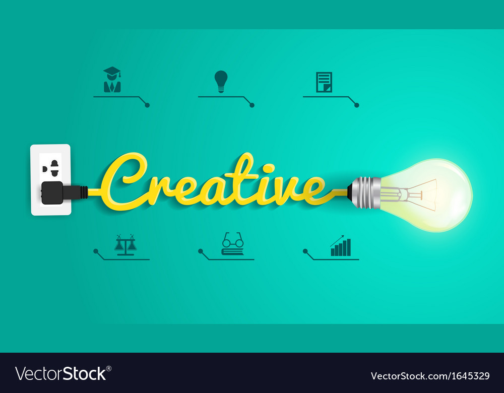 Creative concept modern design template light bulb vector