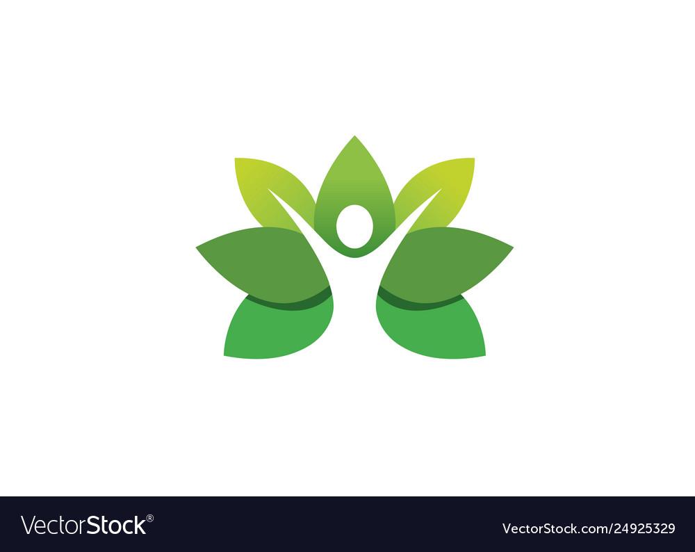 Creative leaf body logo