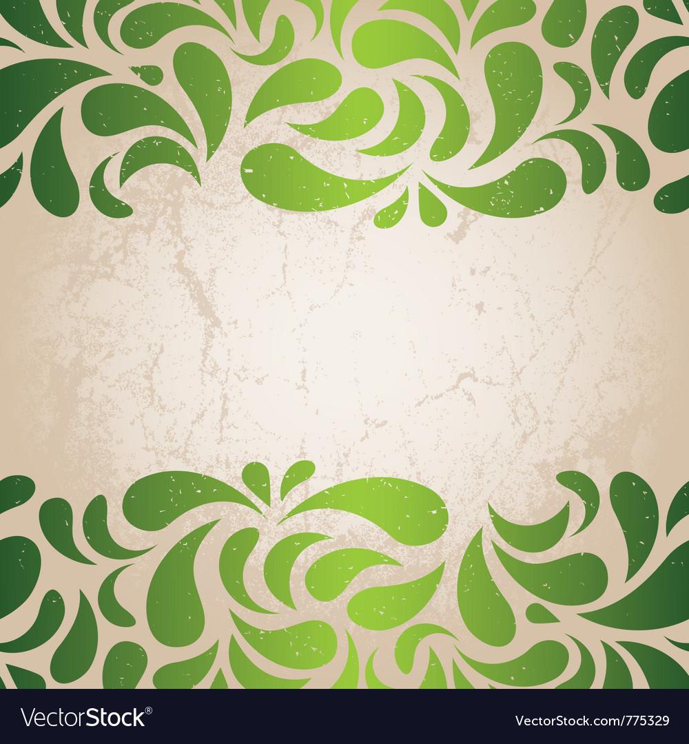 Green vintage wallpaper vector image