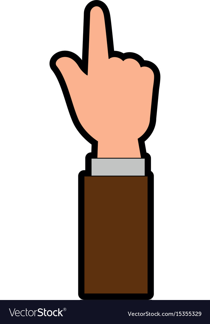 Hand pointing up vector image