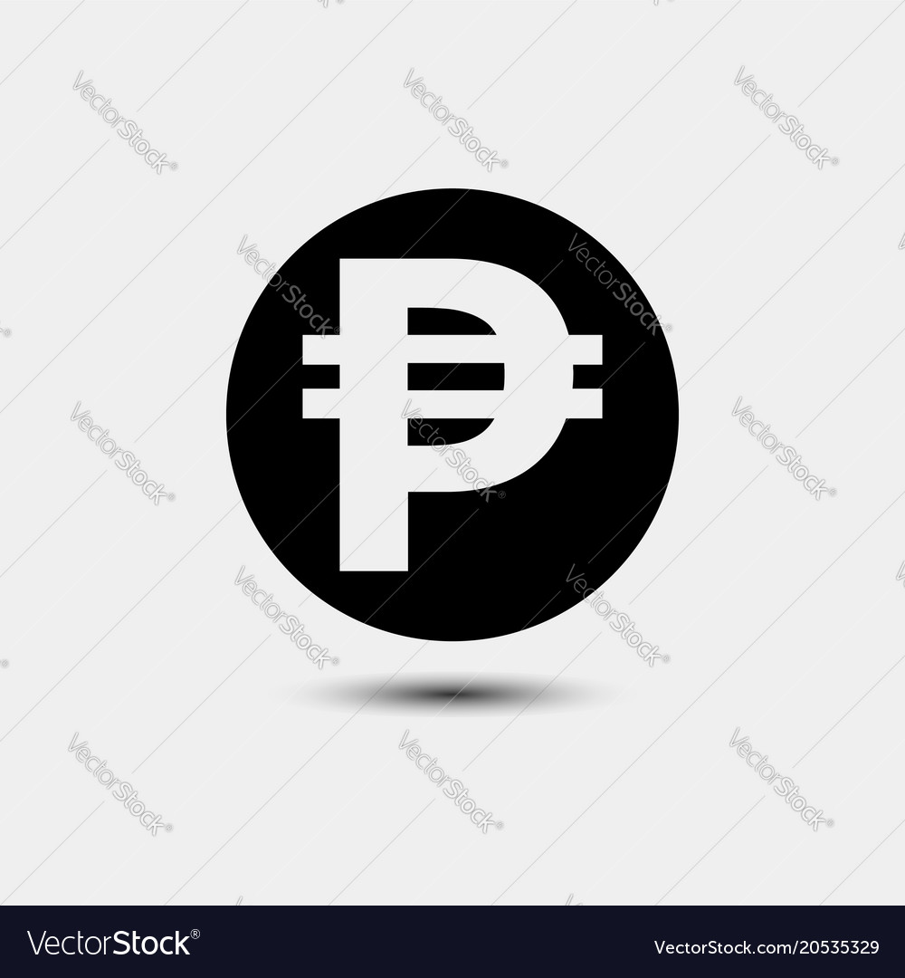 Pesos Currency Icons Royalty Free Vector Image