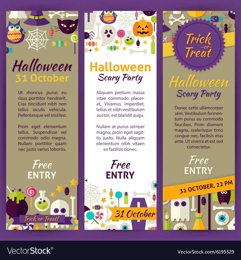 trick or treat halloween party invitation template