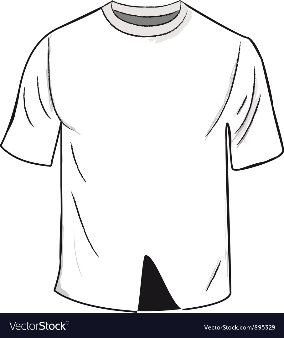 White T Shirt Template Royalty Free Vector Image