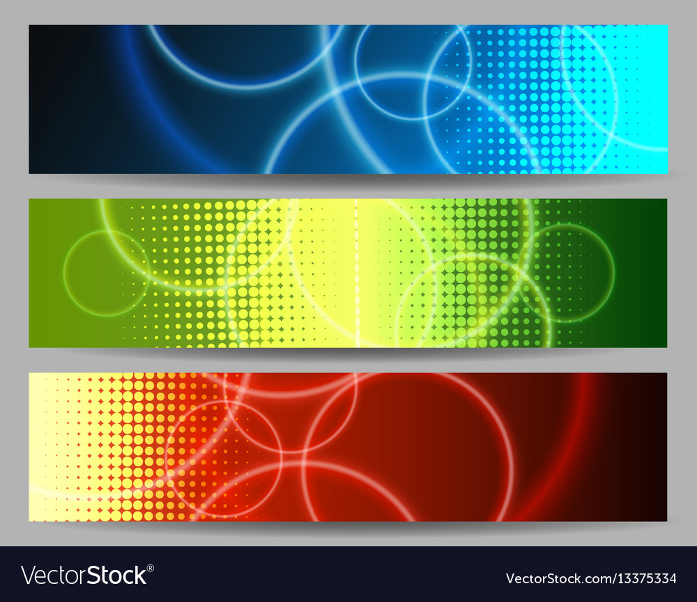Abstract colorful banner set