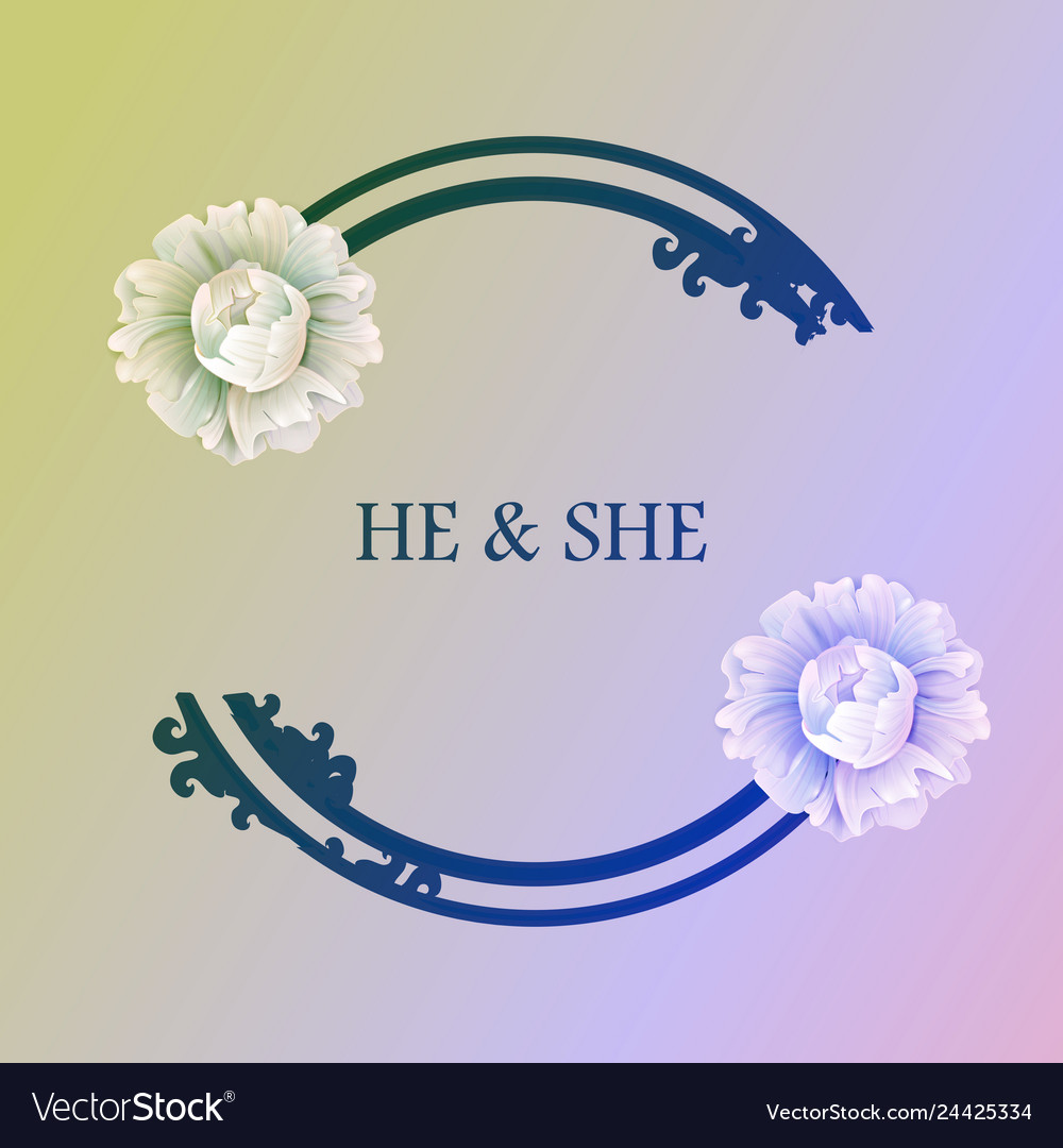 Hand drawn frame floral wreath with leaves for vector image
