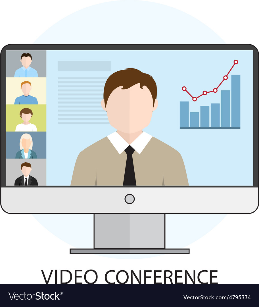 Icon video conference vector image