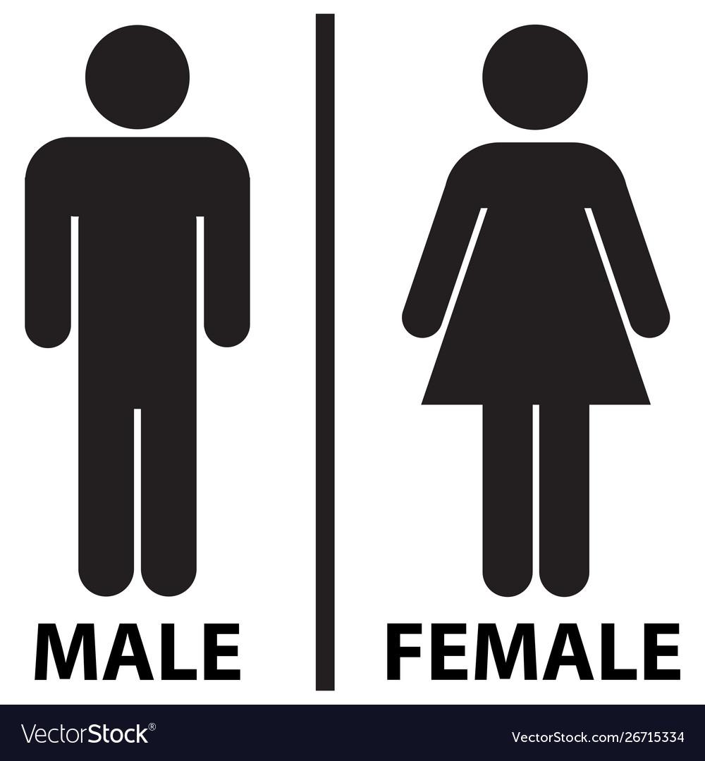 male and female restrooms bathroom icon royalty free vector  vectorstock