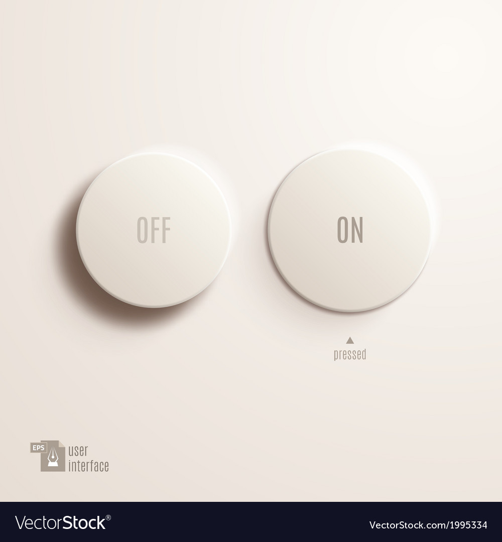 On off plastic button User Interface
