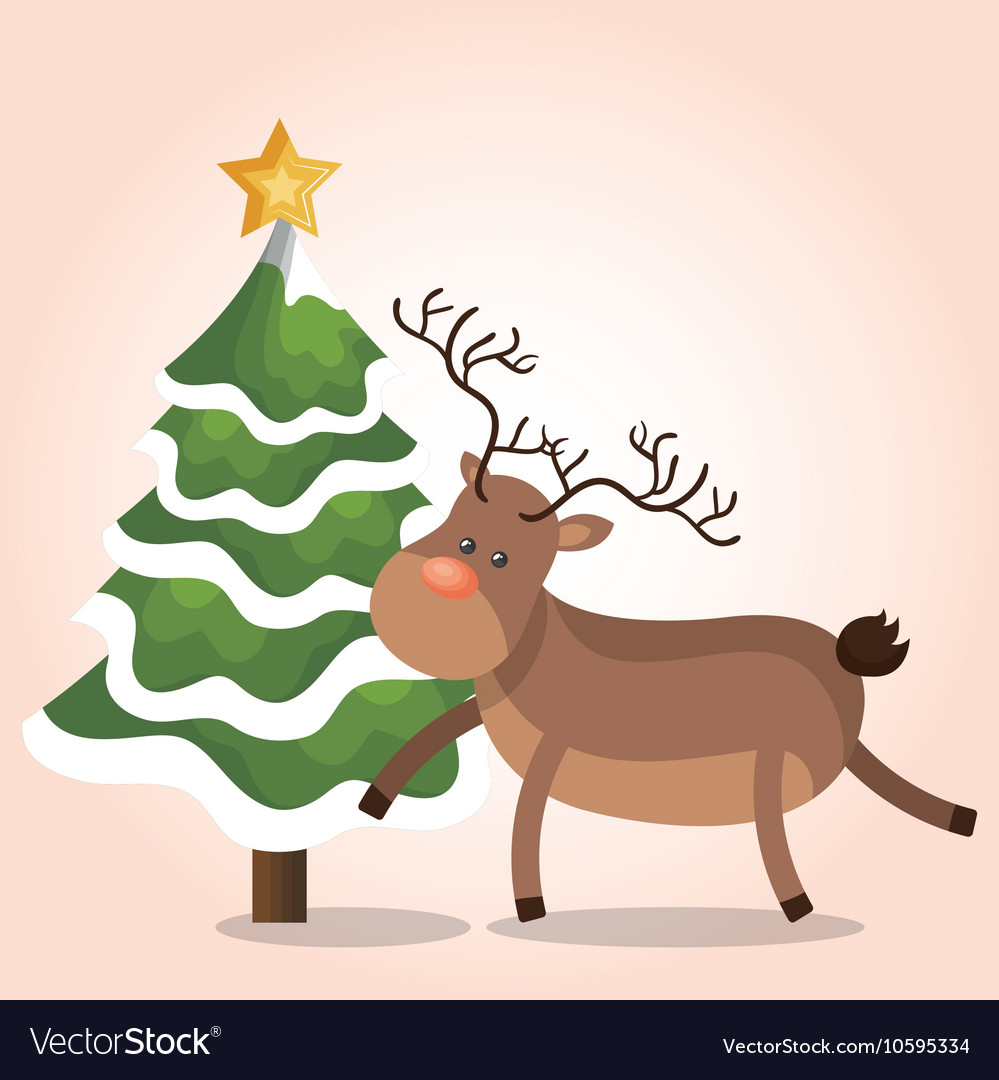 Reindeer christmas isolated