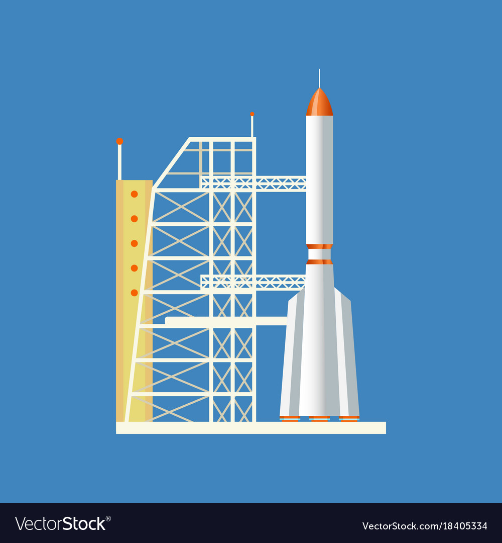Rocket launched from station into air