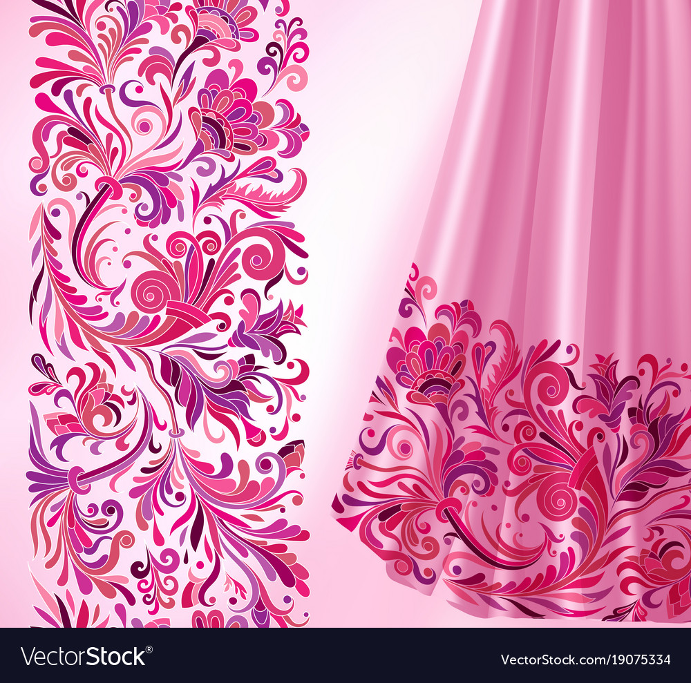 Seamless Border In Victorian Style Royalty Free Vector Image