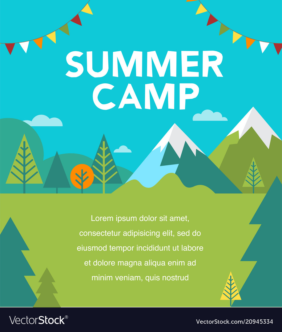 Summer camp poster and flyer