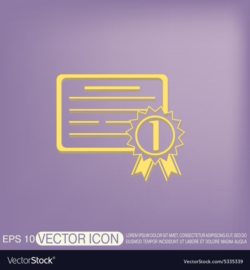 Diploma for the first place vector image