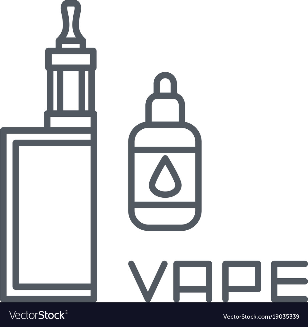 Simple set of vape related line icons vector image