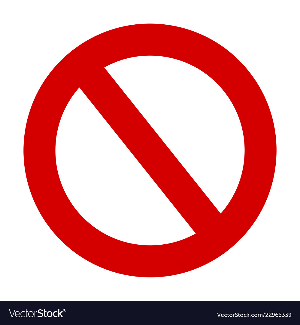 Stop sign no entry warning red circle icon