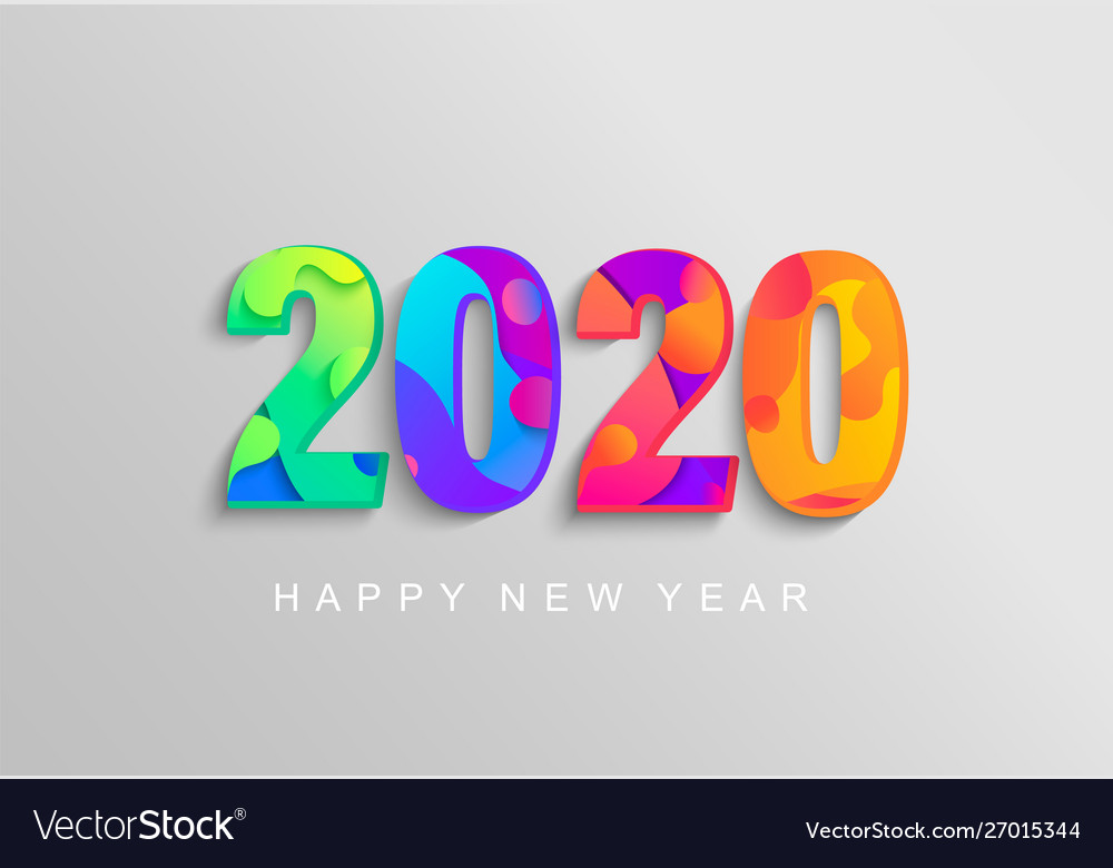 2020 new year banner coloured emblem