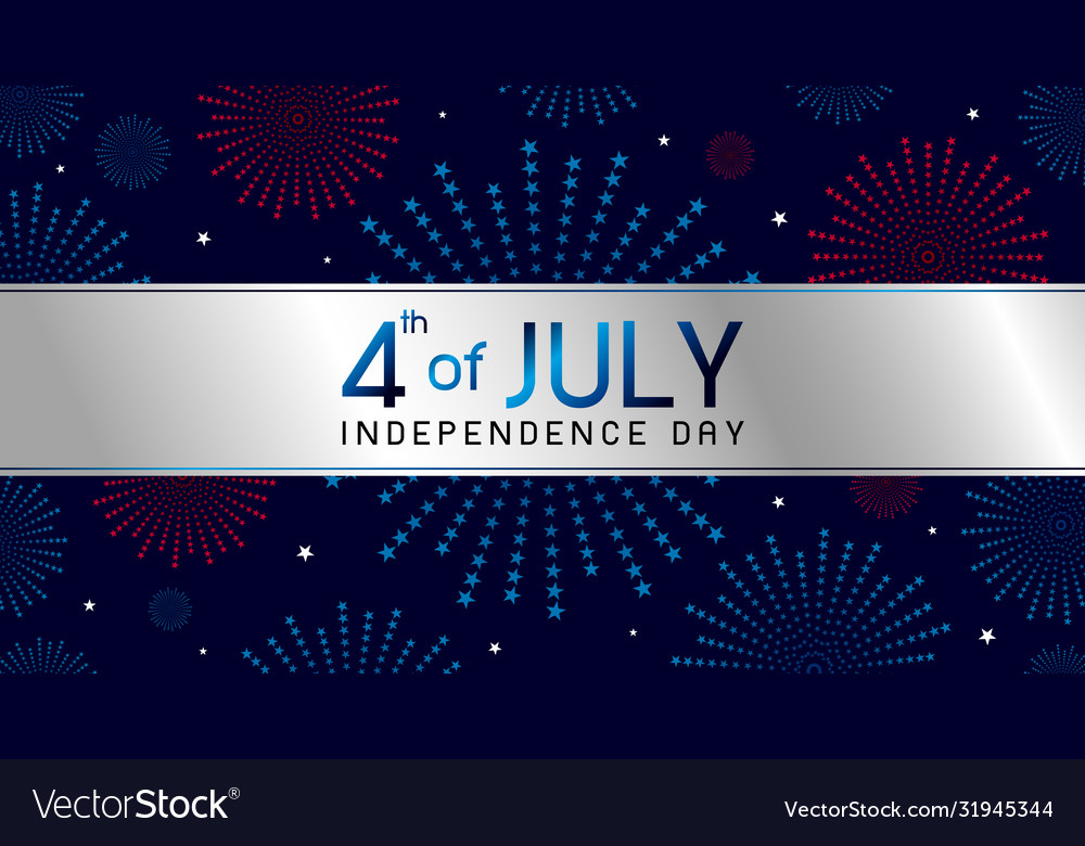 4th july independence day banner design