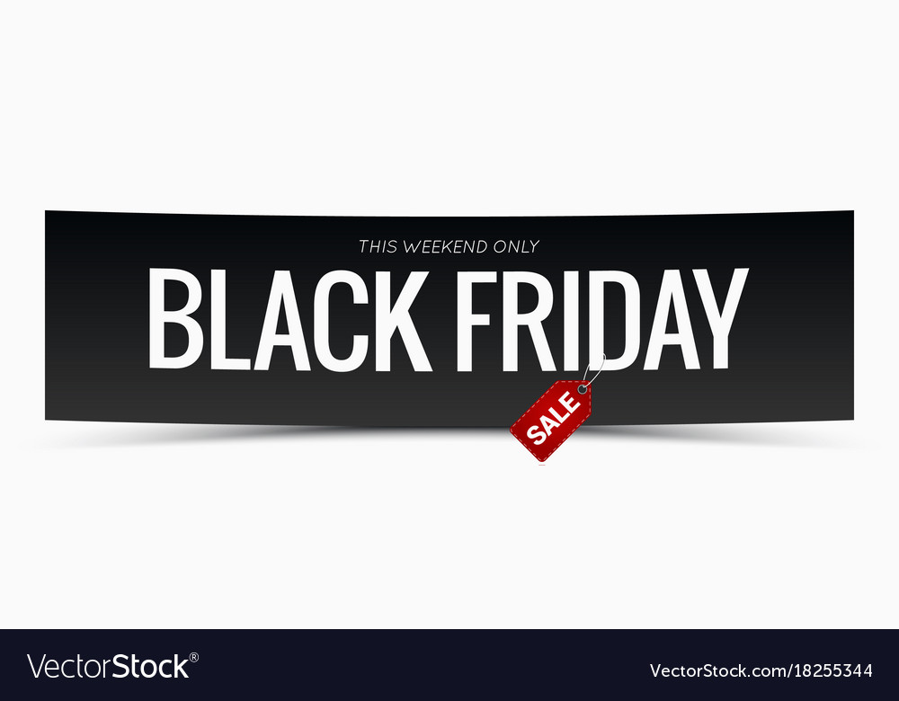 Black friday sale banner design background