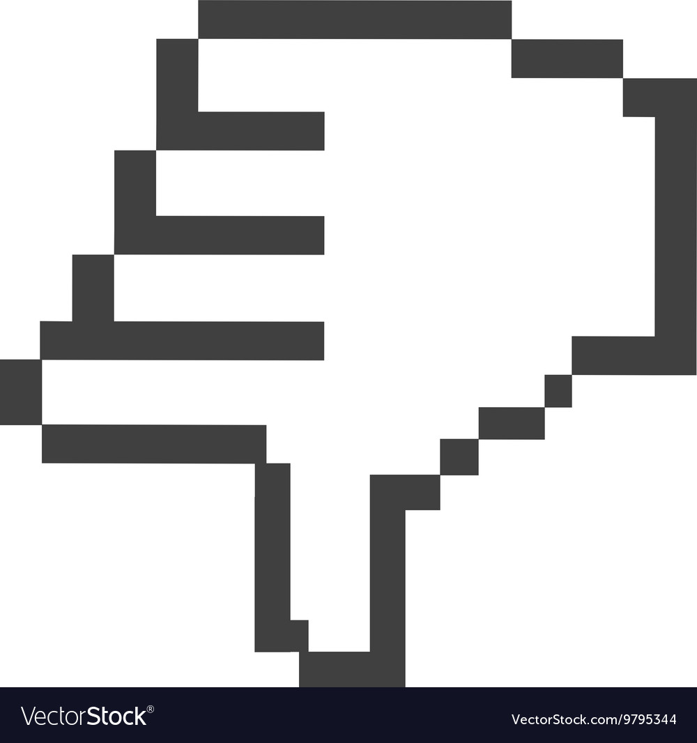 Computer mouse pointer hand isolated icon design vector image