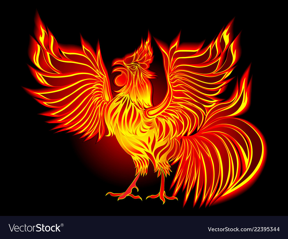 Fire cock by new year 2017 - symbol of the