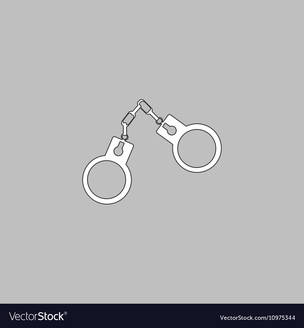 Handcuffs computer symbol