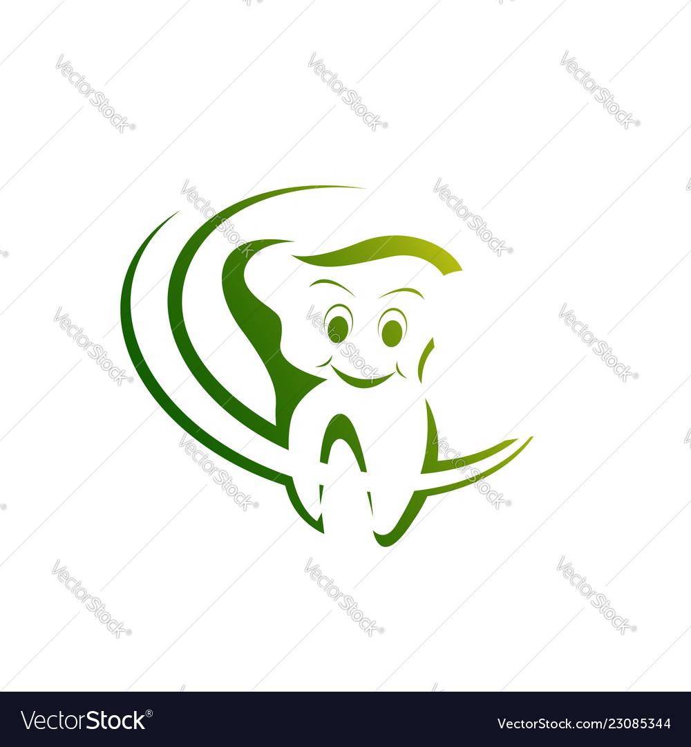Health dent logo design template linear style
